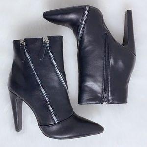 🖤 Black Double Zipper Ankle Bootie